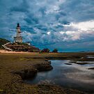 Storm over the Lighthouse by Danielle  Miner