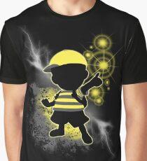 Super Smash Bros. Yellow/Black Ness Sihouette Graphic T-Shirt