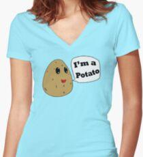 I'm a Potato Women's Fitted V-Neck T-Shirt