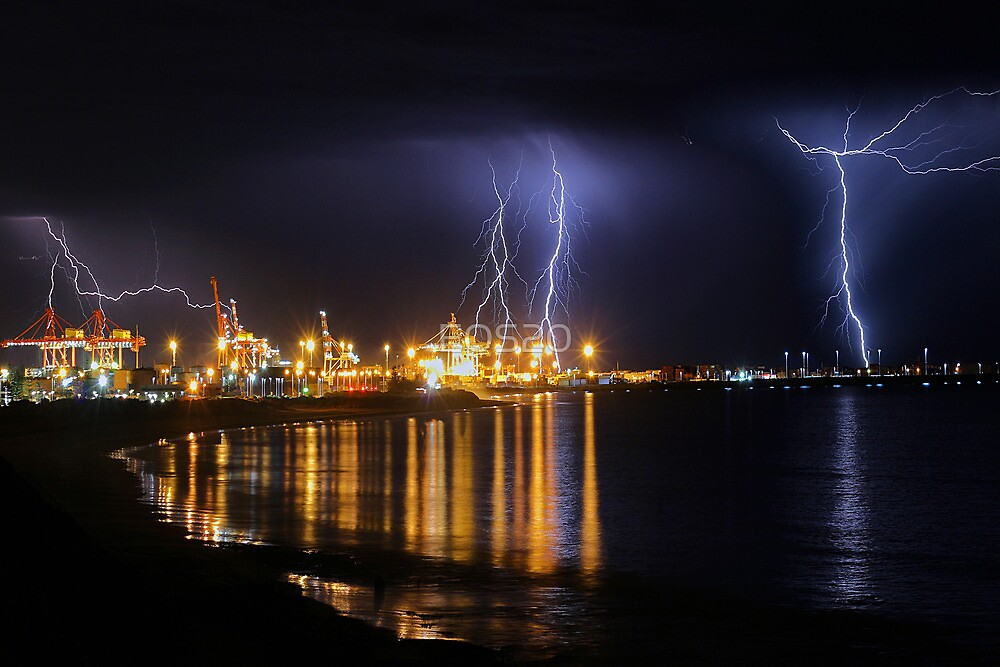 Fremantle Port Thunderstorm  by EOS20