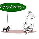 Speaking Dog Birthday Card by LowHumour