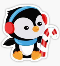 Christmas Penguin boy with candy Sticker