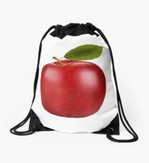 Red Apple Drawstring Bag