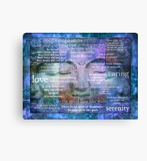 Buddha Awakening spiritual art with quotes Canvas Print