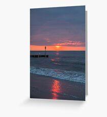Twilight on a beach Greeting Card