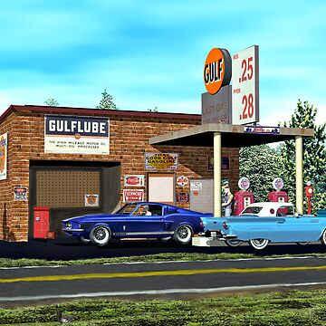 Old Gulf Gas station on route 66 by Skyviper