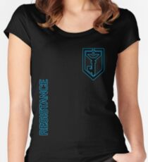 Ingress Resistance - Alt colors with text Women's Fitted Scoop T-Shirt