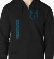 Ingress Resistance - Alt colors with text Zipped Hoodie