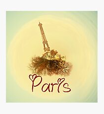 Eiffel tower in love Photographic Print