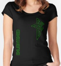 Ingress Enlightened with text Women's Fitted Scoop T-Shirt