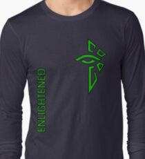 Ingress Enlightened with text - alt Long Sleeve T-Shirt