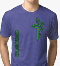 Ingress Enlightened with text - alt Tri-blend T-Shirt