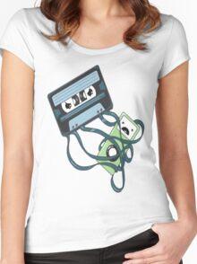 Cassettes Revenge shirt Women's Fitted Scoop T-Shirt