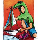 KMAY Hoodkid Crocodile Sailor by Katherine May