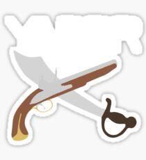"""""""YARRR"""" Flintlock and Steel Sticker"""