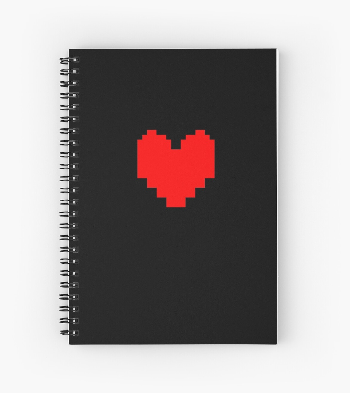 "Undertale Heart - Black"" Spiral Notebooks by Claritype 
