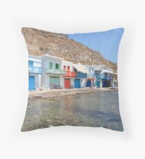 Klima Milos Island Throw Pillow