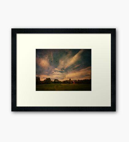 Walking the Farm Framed Print