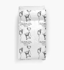 Quote Of Love Duvet Cover