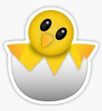 Pegatina Eclosión del pollito bebé Emoji