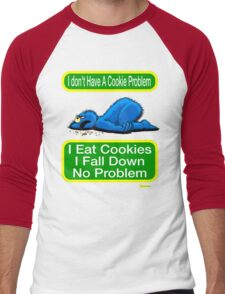 Cookie Monster has a Cookie Problem Men's Baseball ¾ T-Shirt