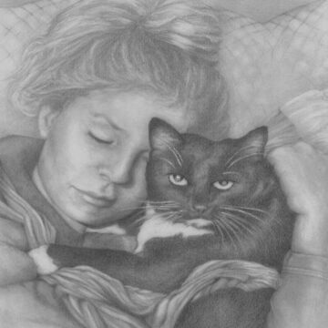 Sleeping Girl With Cat by phumbargar