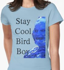 Stay Cool Bird Boy Womens Fitted T-Shirt