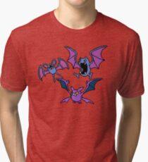 Zubat. Golbat and Crobat Tri-blend T-Shirt