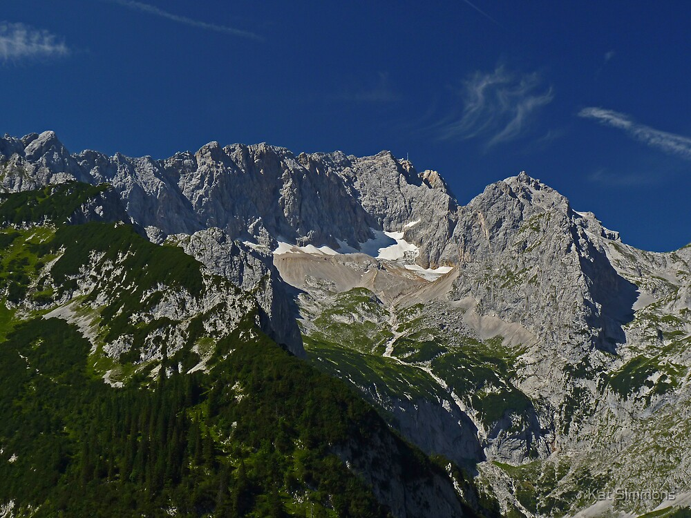 Zugspitze - Germany's Highest Mountain by Kat Simmons