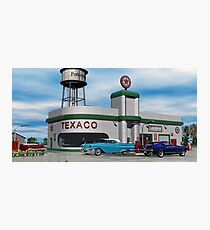 Route 66 1960 Small Town Texaco Gas Station Photographic Print