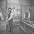 Cabinet Cards: 2 Finish Carpenters On Site c1880 by toolemera
