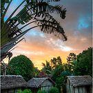 Sunset in a remote village of Madagascar by Fidisoa Rasambainarivo