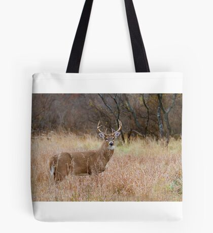 Which way did she go? - White-tailed Buck Tote Bag