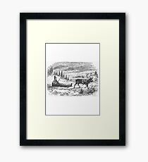 Small sleigh and reindeer Framed Print