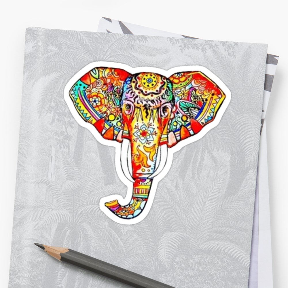 Quot Elephant Quot Sticker By Charlo19 Redbubble