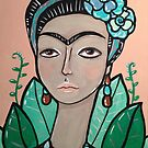 A Modern Portrait of Frida Kahlo by Stolensouljess