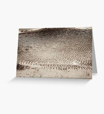 sand & water ripples Greeting Card