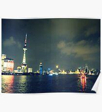 Huangpu River, Shanghai Poster