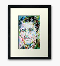 GEORGE ORWELL- watercolor portrait Framed Print