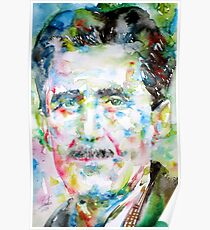 GEORGE ORWELL- watercolor portrait Poster