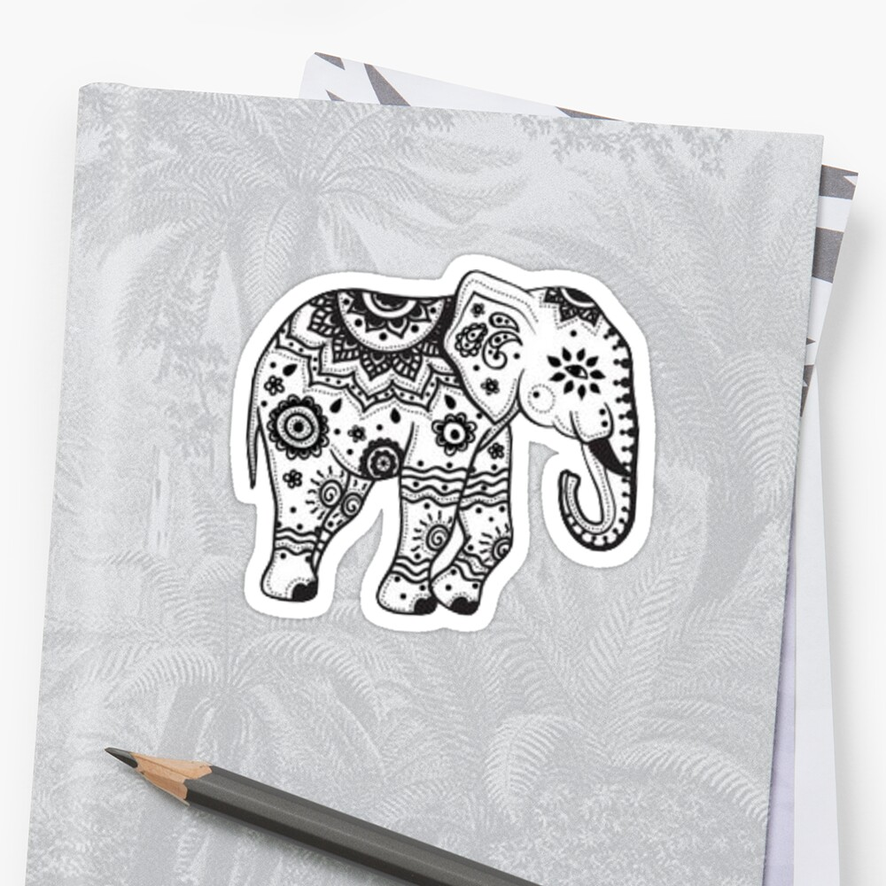 Quot Elephant Quot Stickers By Charlo19 Redbubble