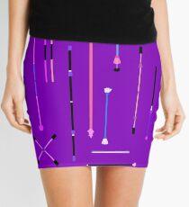Purple Staff Mania Mini Skirt