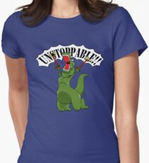 Unstoppable T-Rex Women's Fitted T-Shirt
