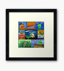 bugs collage Framed Print