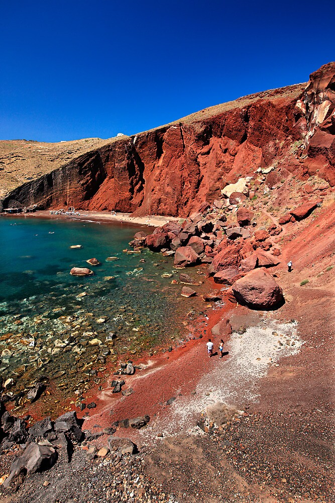 The famous Red beach of Santorini by Hercules Milas