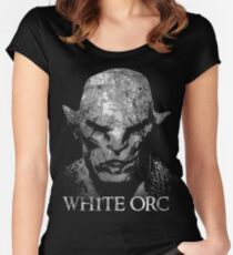 White Orc Women's Fitted Scoop T-Shirt