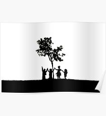 Children Holding Hands Poster