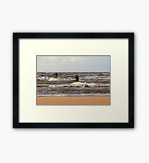 Two Kite Surfing - 1287 Framed Print
