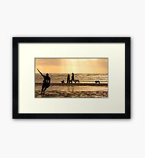 Kite Surfing - 1385 Framed Print