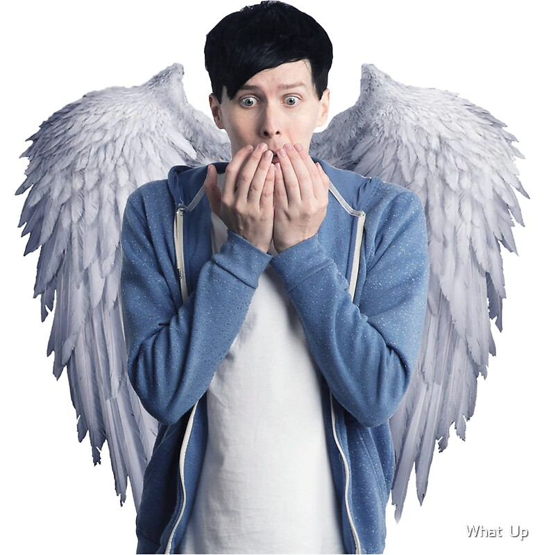 Phil lester angel quot stickers by what up redbubble